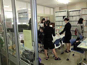 写真:就職指導室の様子
